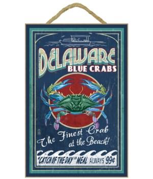 Delaware Blue Crabs Vintage Sign - Best