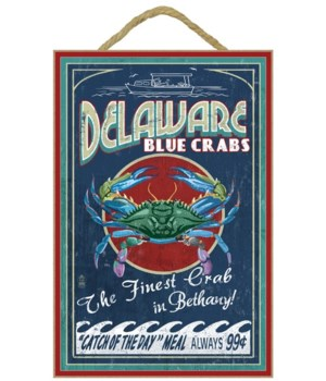 Bethany, Delaware Blue Crabs Vintage Sig
