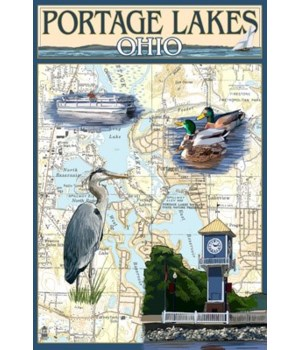 Portage Lakes, Ohio - Nautical Chart - L