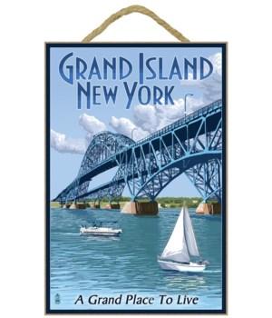 Grand Island, New York - Bridge Scene -