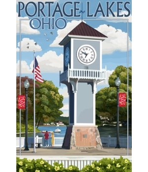 Portage Lakes, Ohio - Clock Tower - Lant