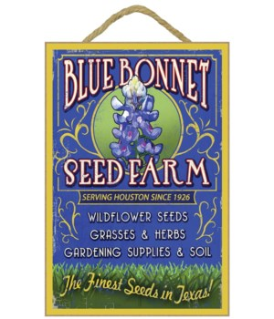 Texas Blue Bonnet Farm Vintage Sign - La