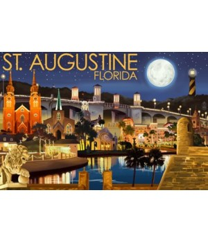 St. Augustine, Florida - Night Scene - L