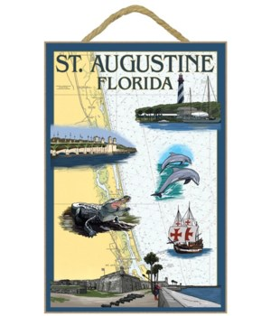 St. Augustine, Florida - Nautical Chart