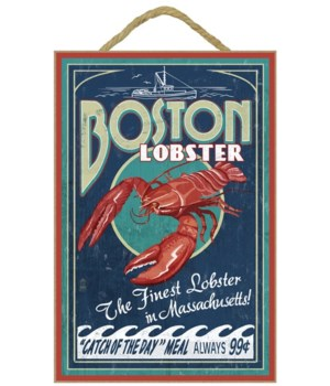 Boston, Massachusetts - Lobster Vintage