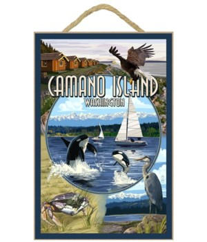 Camano Island, Washington - Montage - La