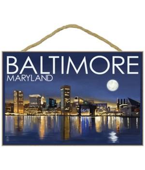 Baltimore, Maryland - Skyline at Night -
