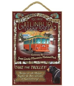 Gatlinburg, Tennessee - Trolley Vintage