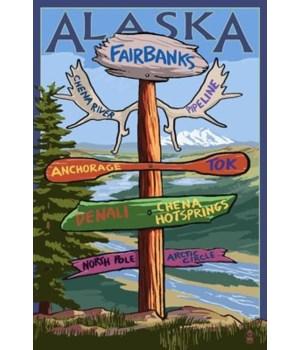 Fairbanks, Alaska - Sign Destinations -