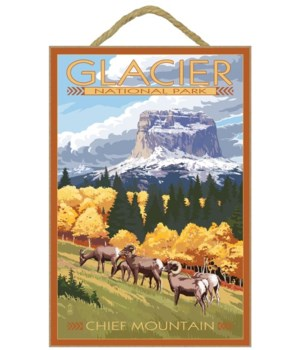 Chief Mountain & Big Horn Sheep - Glacie