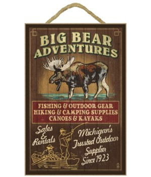 Big Bear Adventures - Moose Vintage Sign