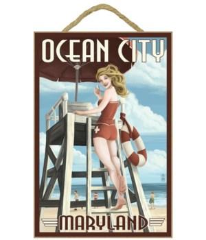 Ocean City, Maryland - Lifeguard Pinup G
