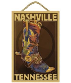 Nashville, Tennessee - Boot - Lantern Pr