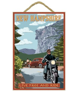 New Hampshire - Motorcycle Scene and Old