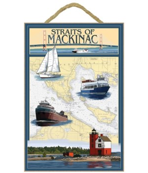 Straits of Mackinac, Michigan - Nautical