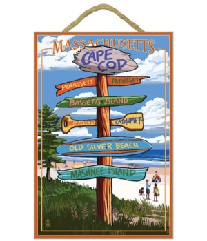 Cataumet, Cape Cod, Massachusetts - Sign