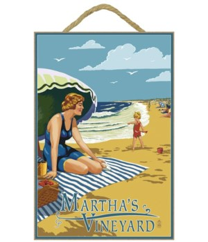Martha's Vineyard - Woman on Beach - Lan