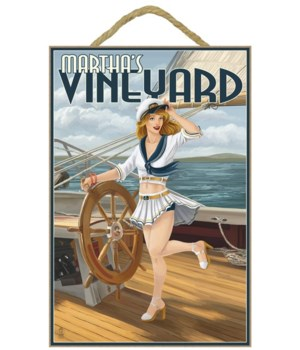 Martha's Vineyard - Sailing Pinup Girl -