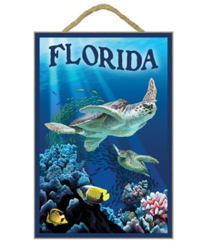 Florida - Sea Turtles - Lantern Press 7x