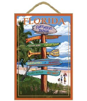 Sign Destinations - Fort Myers Beach,  F