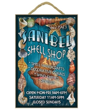 Shell Shop Vintage Sign - Sanibel,  Flor