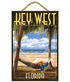 Key West, Florida - Hammock Scene - Lant