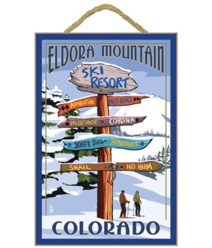 Eldora, Colorado - Sign Destinations - L