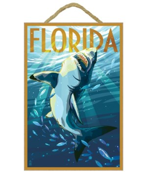 Florida - Stylized Shark - Lantern Press