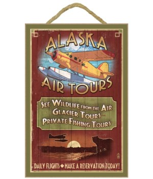 Alaska - Air Tours Vintage Sign - Lanter