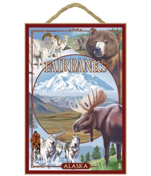 Fairbanks, Alaska - Wildlife Montage Sce
