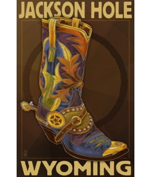 Boot - Jackson Hole, Wyoming - Lantern P