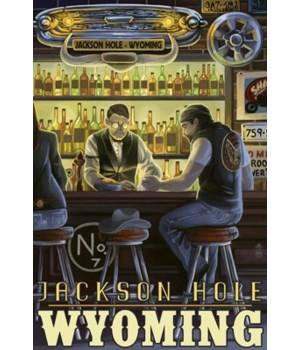 Saloon Scene - Jackson Hole, Wyoming - L