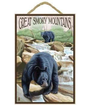 Black Bears Fishing - Great Smoky Mounta