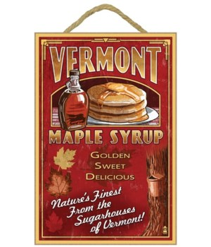 Vermont - Maple Syrup Vintage Sign - Lan