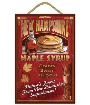 New Hampshire - Syrup Vintage Sign - Lan