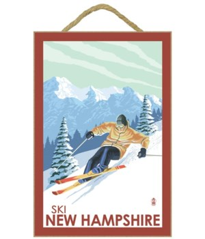 New Hampshire - Downhill Skier - Lantern