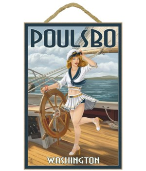 Poulsbo, Washington - Sailor Pinup Girl
