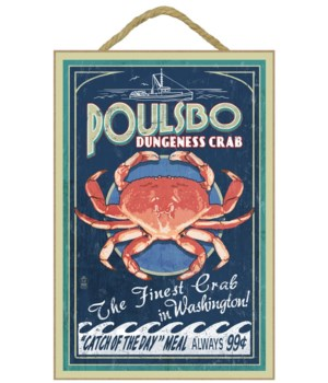Poulsbo, Washington - Dungeness Crab Vin