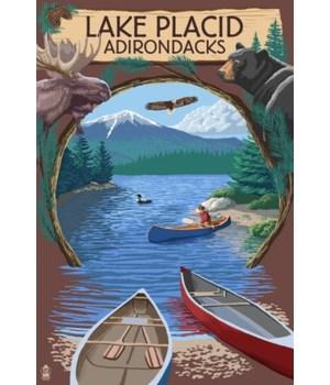 Lake Placid, NY -Adirondacks Canoe Scene