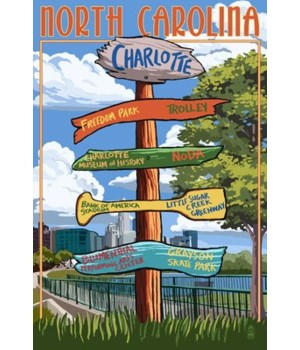 Charlotte, north Carolina - Signpost Des