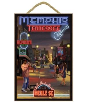 Memphis, Tennessee - Memphis at Night (B