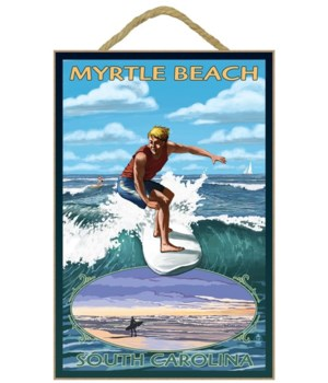 Myrtle Beach, South Carolina - Surfer wi