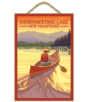 Merrymeeting Lake, New Hampshire - Canoe