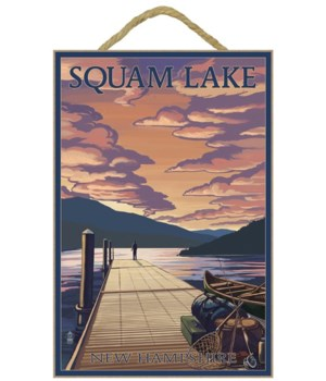 Squam Lake, New Hampshire - Dock and Sun