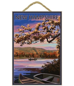 New Hampshire - Lake at Dusk - Lantern P