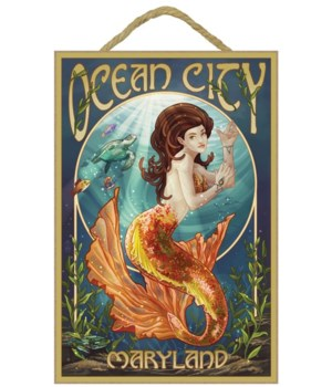 Ocean City, Maryland - Mermaid - Lantern