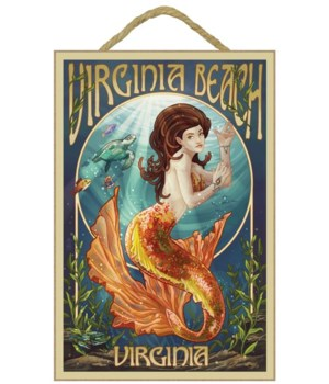 Virginia Beach, Virginia - Mermaid - Lan