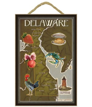 Delaware Map and Icons - Lantern Press 7