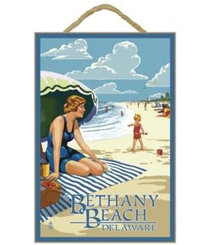 Bethany Beach, Delaware - Woman on Beach