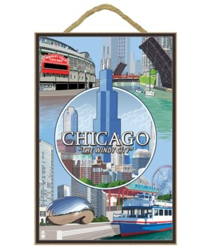 Chicago, Illinois - City Scenes Montage